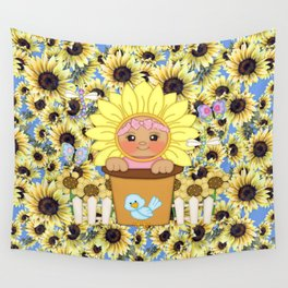 Sunflower Baby Wall Tapestry