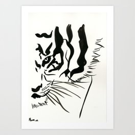 Tiger's Eye Art Print