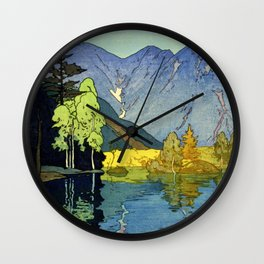 Yoshida Hiroshi - Japan Alps 12title, Hotaka Mountain - Digital Remastered Edition Wall Clock