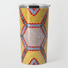 Golden Garnet Ornament (Premium Marble mandala) Travel Mug