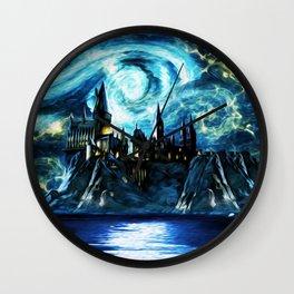 Starry Night Hogwarts Wall Clock