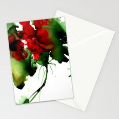 Fantasy abstract flower. Watercolor illustration Stationery Cards