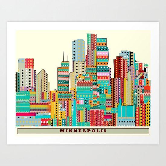 Minneapolis city  Art Print