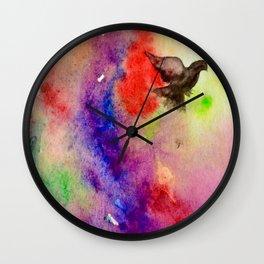 Parrots in the Rainblow Wall Clock