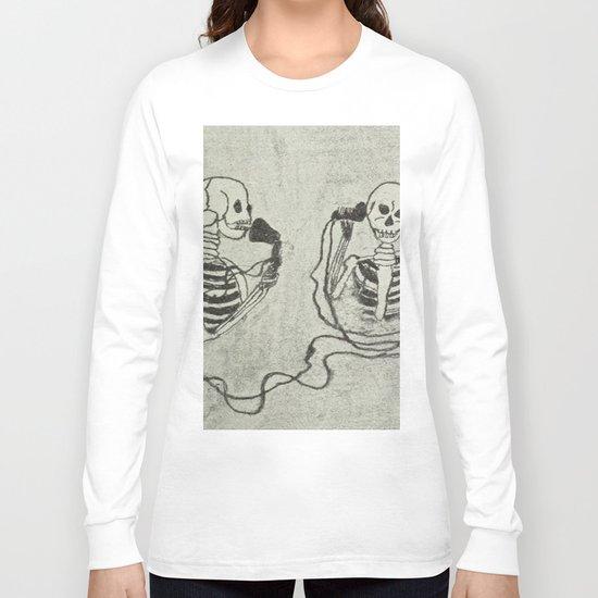 Skeleton's telephone. Long Sleeve T-shirt