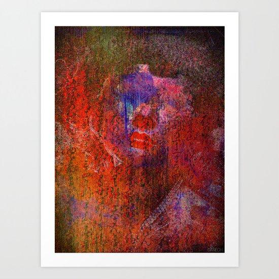 Femme de l'ombre Art Print