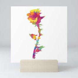 Splatter Rose Mini Art Print