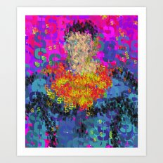 Super Type Man - Abstract Pop Art Comic Art Print