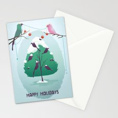 Happy Holidays - A Parrots Christmas  Stationery Cards