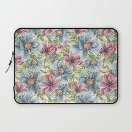 Hibiscus Vintage Pattern Laptop Sleeve