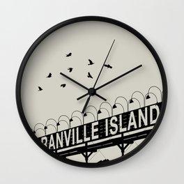 Granville Flock - Graphic Birds Series, Plain - Modern Home Decor Wall Clock
