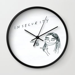 INSECURITY, AM I RIGHT Wall Clock