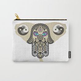 Hamsa Elephant Ying Yang Tree A403 Carry-All Pouch