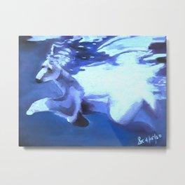 Spirit Bear Dancing in the Water  Metal Print