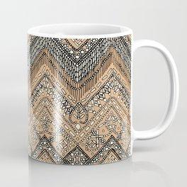 beaded chevron apricot Coffee Mug