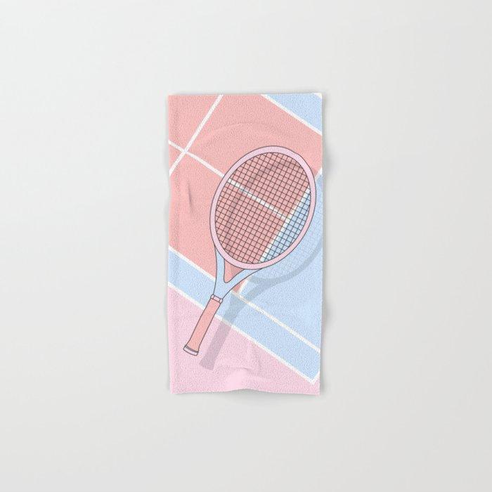 Hold my tennis racket Hand & Bath Towel