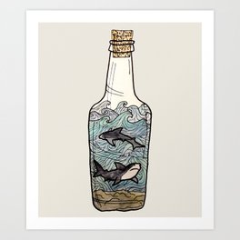 bottled up Art Print