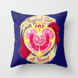 Magical Girl At Heart Throw Pillow