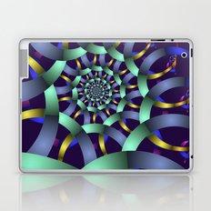 The turquoise spiral Laptop & iPad Skin