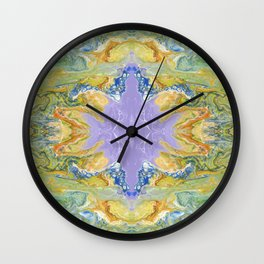 The Dragon Meetup at the Violet Orb of Wonder by annmariescreations Wall Clock