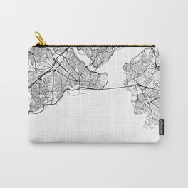 Istanbul Map White Carry-All Pouch