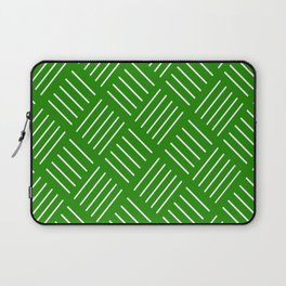 Abstract geometric pattern - green and white. Laptop Sleeve