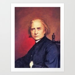 Franz Liszt, Music Legend Art Print