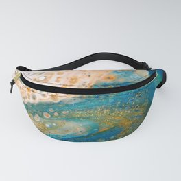 Panning for Gold - Abstract Acrylic Art by Fluid Nature Fanny Pack