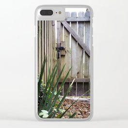 Wooden Fence Clear iPhone Case