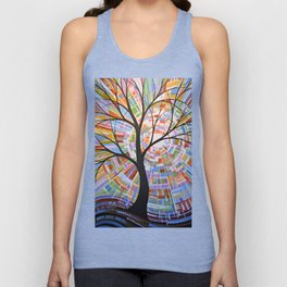 Abstract Art Landscape Original Painting ... Here Comes the Sun Unisex Tank Top