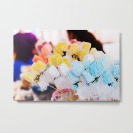 Colorful flowers at bazaar Metal Print