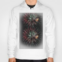 fireworks Hoodies featuring Fireworks by Carlo Toffolo