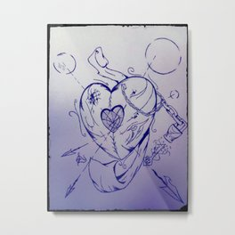 The Waning Heart Metal Print