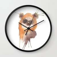 ewok Wall Clocks featuring Ewok by SpooksieBoo