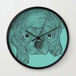 Pug Sketch Wall Clock
