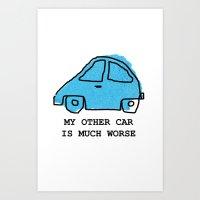Torn Car Art Print