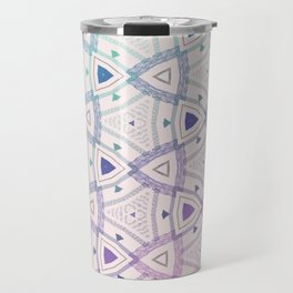 Rounded Triangle Blue Pink Gradient Travel Mug