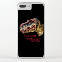 T-Rex Dinosaur - Unleash your wild side Clear iPhone Case