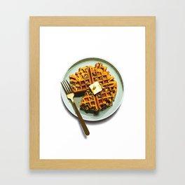 Pumpkin Waffles Framed Art Print
