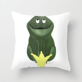 Frog prince, Froschkönig Throw Pillow
