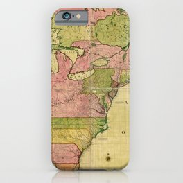 Map of North America by Kitchin, Mitchell and Millar (1755) iPhone Case