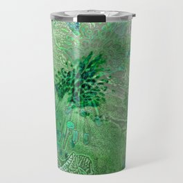 Green Lace Azalea Abstract  Travel Mug