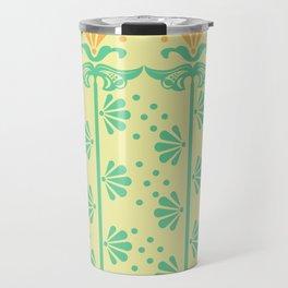 Vintage Art Deco floral pattern Travel Mug