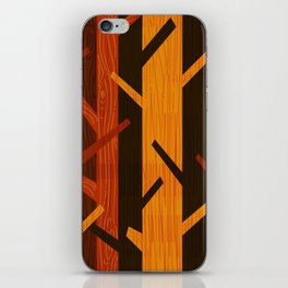 Retro Fall Woods by Friztin iPhone Skin