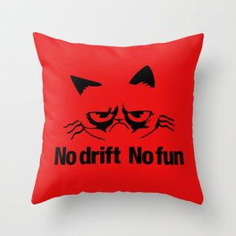 No drift No fun v5 HQvector Throw Pillow