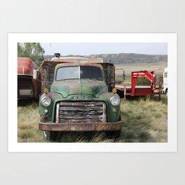 Truck still runs Art Print