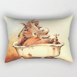 warthog's bath Rectangular Pillow