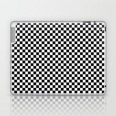 Black White Checks Laptop & iPad Skin