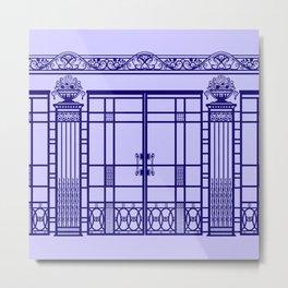 ART DECO, ART NOUVEAU IRONWORK: French Blue Metal Print