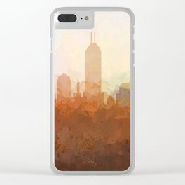 Indianapolis Skyline - In the Clouds Clear iPhone Case
